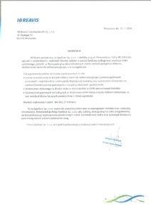 referencje HB Reavis - Zdrofit Inflancka